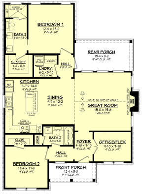 Main Floor for House Plan #041-00249
