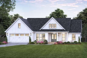Modern Farmhouse House Plan #4534-00060 Elevation Photo