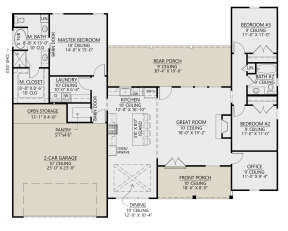 Main Floor for House Plan #4534-00060
