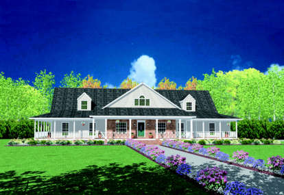 4 Bed, 4 Bath, 3388 Square Foot House Plan - #046-00236