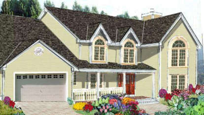 5 Bed, 2 Bath, 2585 Square Foot House Plan - #033-00056
