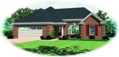 3 Bed, 2 Bath, 1362 Square Foot House Plan - #053-00293