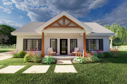 2 Bed, 2 Bath, 988 Square Foot House Plan - #2699-00030