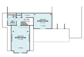 Optional Second Floor for House Plan #4195-00039
