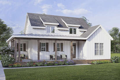 2 Bed, 2 Bath, 1337 Square Foot House Plan - #009-00305