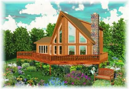 3 Bed, 2 Bath, 1850 Square Foot House Plan - #053-00300