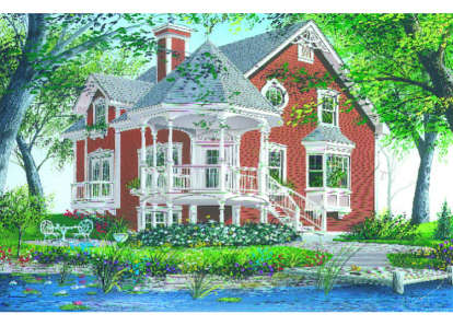 3 Bed, 3 Bath, 1597 Square Foot House Plan - #034-00011
