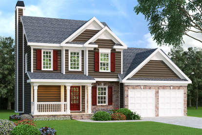 3 Bed, 2 Bath, 1496 Square Foot House Plan - #009-00010