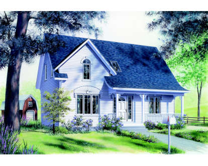 3 Bed, 2 Bath, 1458 Square Foot House Plan - #034-00012
