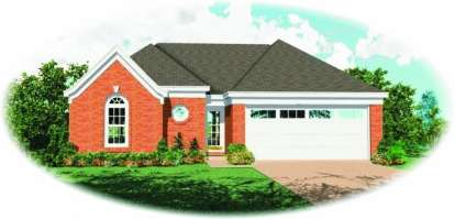 3 Bed, 2 Bath, 1430 Square Foot House Plan - #053-00304
