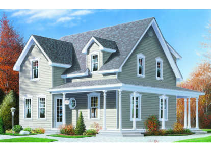 3 Bed, 2 Bath, 1622 Square Foot House Plan - #034-00013