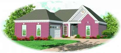 2 Bed, 2 Bath, 1448 Square Foot House Plan - #053-00321