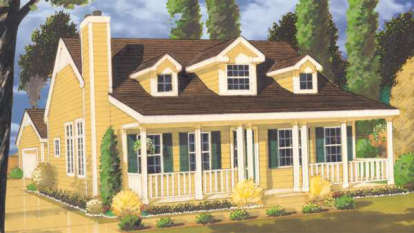 3 Bed, 2 Bath, 1409 Square Foot House Plan - #033-00059