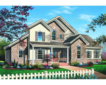3 Bed, 2 Bath, 2353 Square Foot House Plan - #034-00015