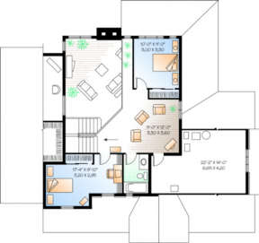 Second Floor for House Plan #034-00015