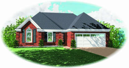 3 Bed, 2 Bath, 1467 Square Foot House Plan - #053-00358