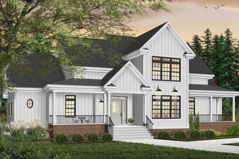 Country House Plan #034-00016 Elevation Photo
