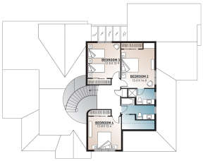 Second Floor for House Plan #034-00016
