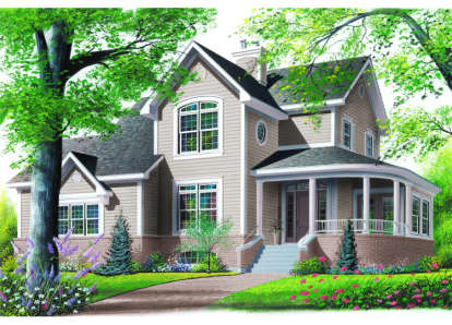 4 Bed, 2 Bath, 2348 Square Foot House Plan - #034-00017