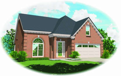 3 Bed, 2 Bath, 2564 Square Foot House Plan - #053-00374