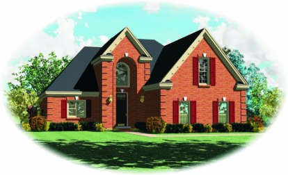 3 Bed, 2 Bath, 2371 Square Foot House Plan - #053-00376
