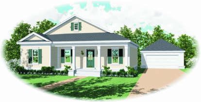 3 Bed, 2 Bath, 1437 Square Foot House Plan - #053-00378