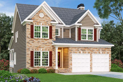 4 Bed, 2 Bath, 2335 Square Foot House Plan - #009-00011