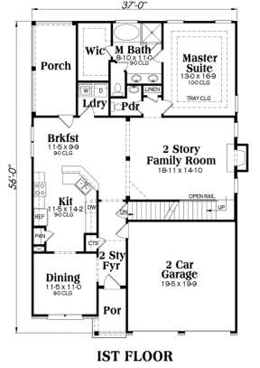 Main Floor for House Plan #009-00011