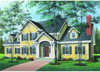 4 Bed, 3 Bath, 3501 Square Foot House Plan - #034-00018