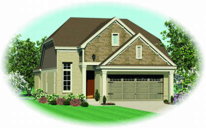 3 Bed, 2 Bath, 1980 Square Foot House Plan - #053-00386