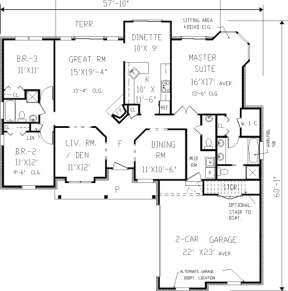 Main Floor for House Plan #033-00061