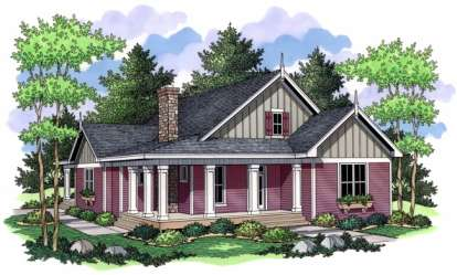 3 Bed, 2 Bath, 1811 Square Foot House Plan - #098-00007