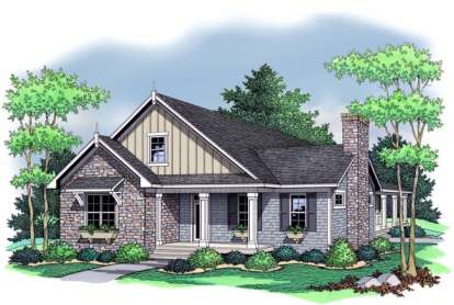 3 Bed, 2 Bath, 1838 Square Foot House Plan - #098-00008