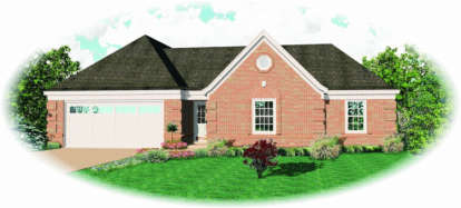 3 Bed, 2 Bath, 1501 Square Foot House Plan - #053-00394