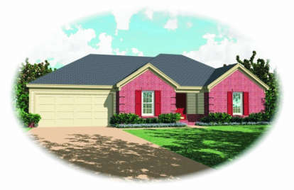 3 Bed, 2 Bath, 1545 Square Foot House Plan - #053-00395