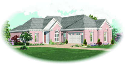 2 Bed, 2 Bath, 1549 Square Foot House Plan - #053-00397