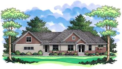 3 Bed, 2 Bath, 2615 Square Foot House Plan - #098-00014