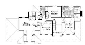 Second Floor for House Plan #098-00018