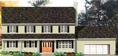 4 Bed, 1 Bath, 2136 Square Foot House Plan - #033-00064