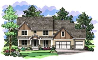4 Bed, 3 Bath, 3649 Square Foot House Plan - #098-00027