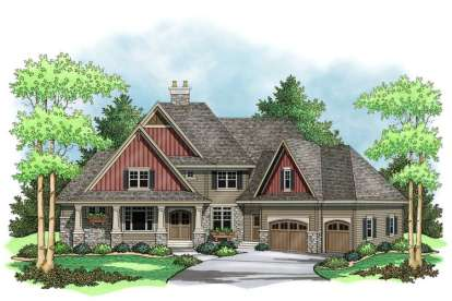 4 Bed, 3 Bath, 4032 Square Foot House Plan - #098-00029