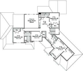 Second Floor for House Plan #098-00029