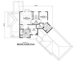 Second Floor for House Plan #098-00030