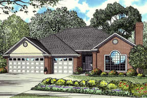 Traditional House Plan #110-00013 Elevation Photo