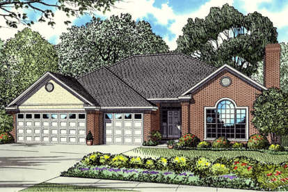 3 Bed, 2 Bath, 2180 Square Foot House Plan - #110-00013