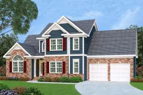 Southern House Plan #009-00012 Elevation Photo