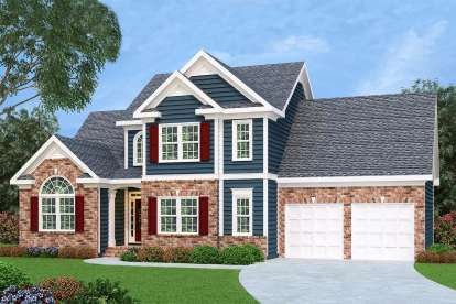 3 Bed, 2 Bath, 1721 Square Foot House Plan - #009-00012