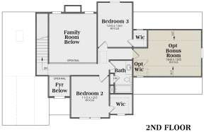Second Floor for House Plan #009-00012