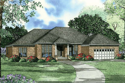 3 Bed, 2 Bath, 2216 Square Foot House Plan - #110-00015