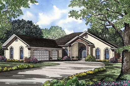 4 Bed, 3 Bath, 3124 Square Foot House Plan - #110-00019